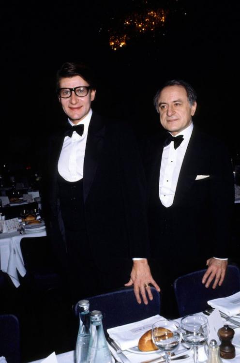 Ив Сен-Лоран и Пьер Берже, январь 1980