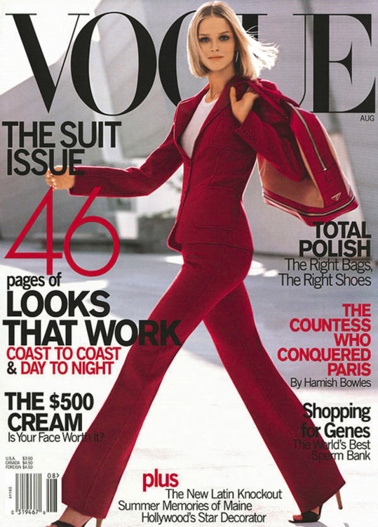 Кармен Касс, американский Vogue, август 2000. Фотограф: Стивен Мейзел