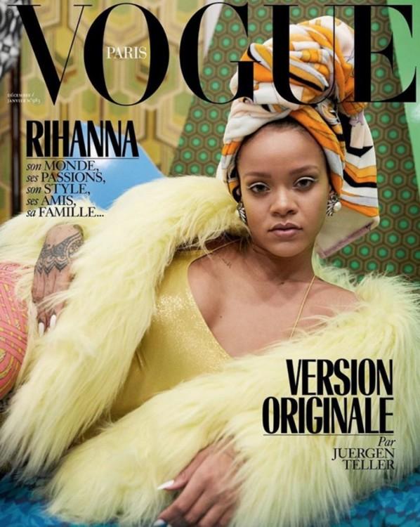 Рианна на обложке Vogue Paris, Декабрь 2017/Январь 2018. Фото Юрген Теллер