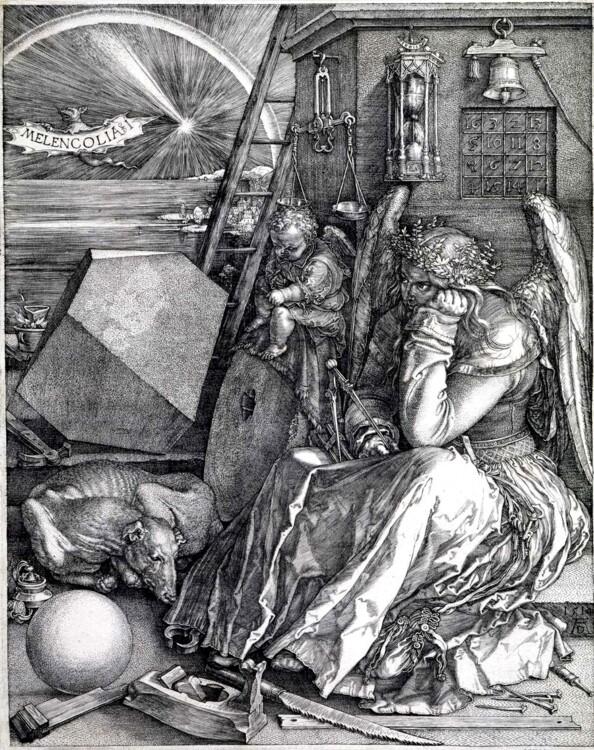 """""""Меланхолія"""", 1514; Ермітаж"""