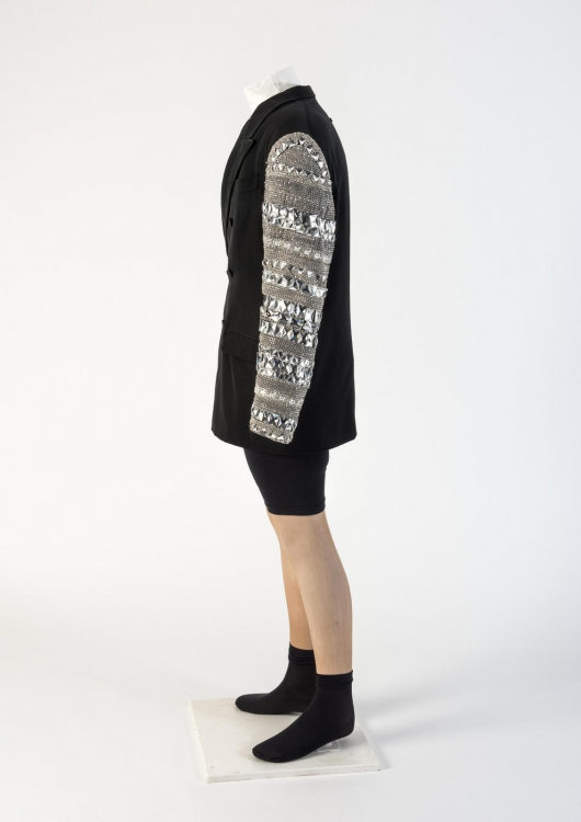 Мужской шерстяной пиджак с инкрустированными рукавами. Jean-Paul Gaultier, 1991