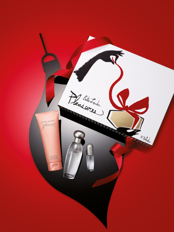 Рождественский набор Pleasures: парфюмированная вода и лосьон для тела и мини-версия аромата для путешествий, все - Estēe Lauder