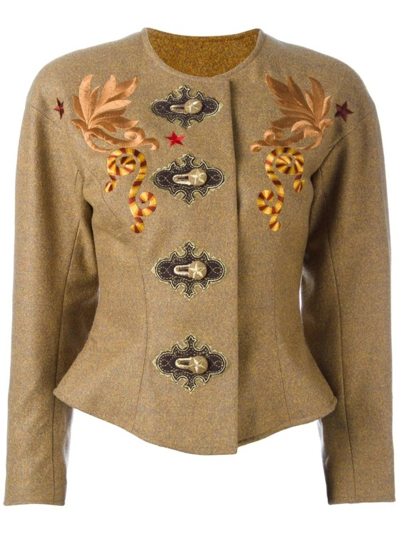 Жакет из кашемира и шерсти с вышивкой, Christian Lacroix Vintage