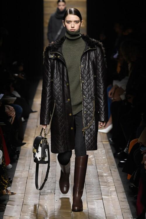 Самые модные кожаные пальто: стеганые пальто осень-зима 2020/2021 фото