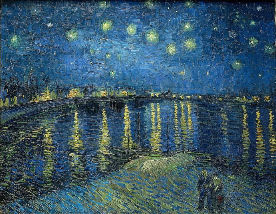 """""""Зоряна ніч над Роною"""", 1888, Музей д'Орсе, Париж, Франція"""