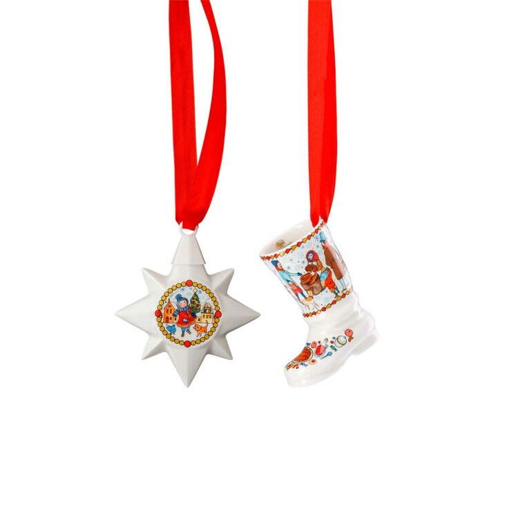 Мини-звезда и сапог Rosenthal, коллекция Weihnachtsmarkt