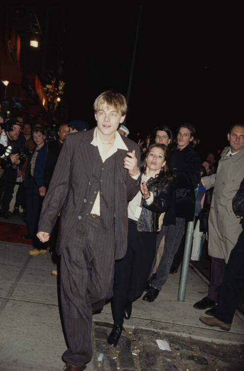 Леонардо Ди Каприо на премьере фильма «Дневники баскетбола», 1995