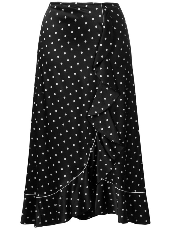Асимметричная юбка с оборкой GANNI