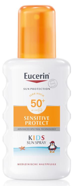 Сонцезахисний спрей для дітей Sensitive Protect, Eucerin, SPF 50+ UVA
