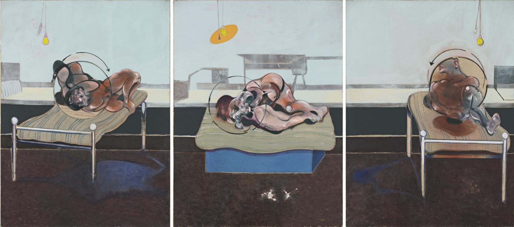 «Три этюда для фигур в постели», 1972 (Частная коллекция)