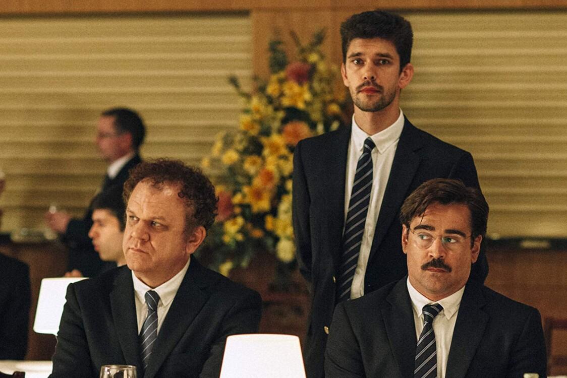 Джон Крістофер Райлі, Бен Вішоу і Колін Фаррелл у фільмі «Лобстер», 2015