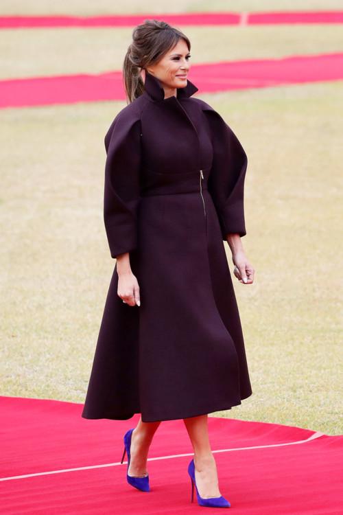 Мелания Трамп в пальто Delpozo
