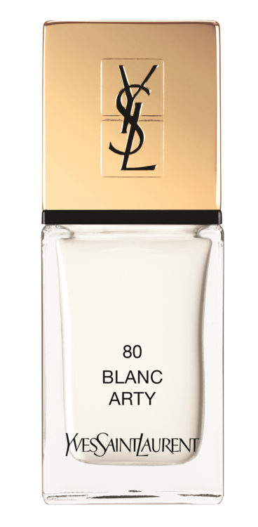 Лак для ногтей La Laque Couture №80 Blanc Arty, Yves Saint Laurent Beaute