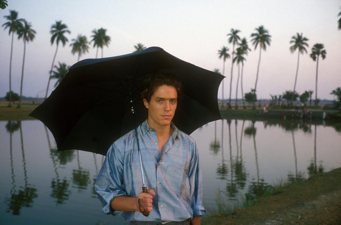 Хью Грант на съемках фильма «Бенгальская ночь» в феврале 1988 года, Индия
