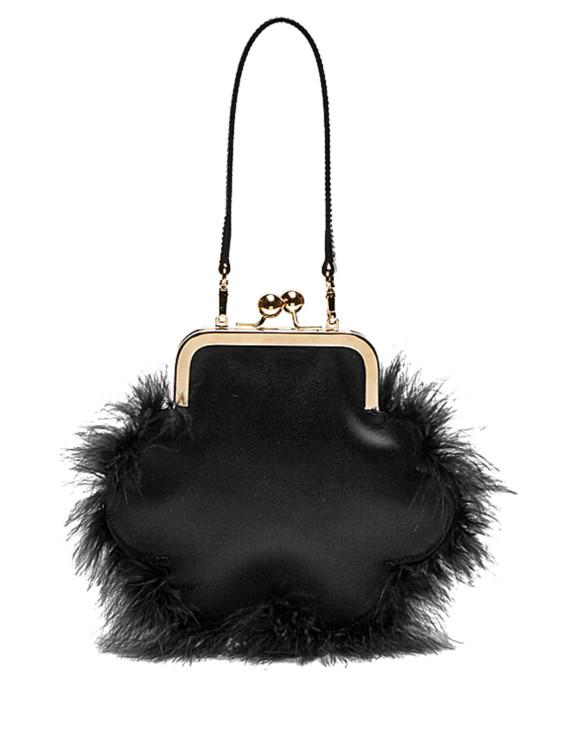 Сатиновая сумка, расшитая перьями, Simone Rocha