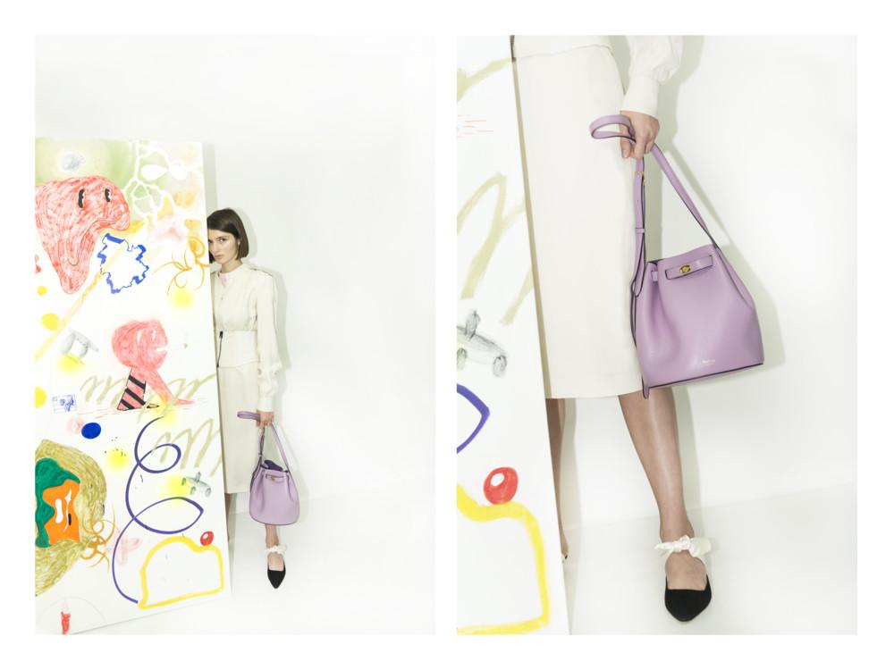 Платье Tom Ford, сумка Mulberry, кофта Celine, мюли The Row