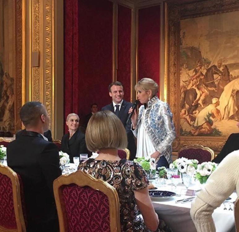 Мария Грация Кьюри (Dior), Эммануэль Макрон, Брижит Макрон