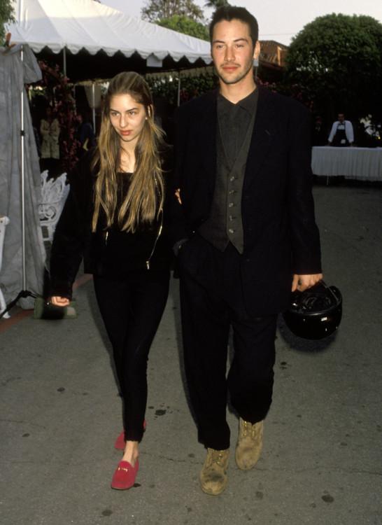 Софія Коппола й Кіану Рівз під час 7-ї щорічної премії IFP / West Independent Spirit Awards, 1992
