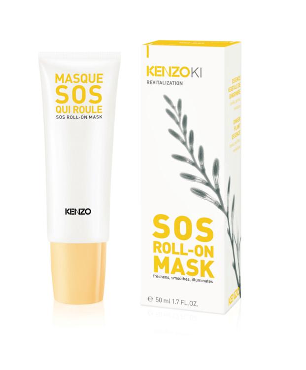 Освежающая, смягчающая, придающая сияние маска-SOS с Sos Roll-On Mask, KenzoKI