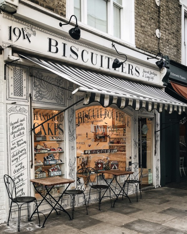 Кафе Biscuiteers Boutique and Icing Café в Ноттинг Хилл