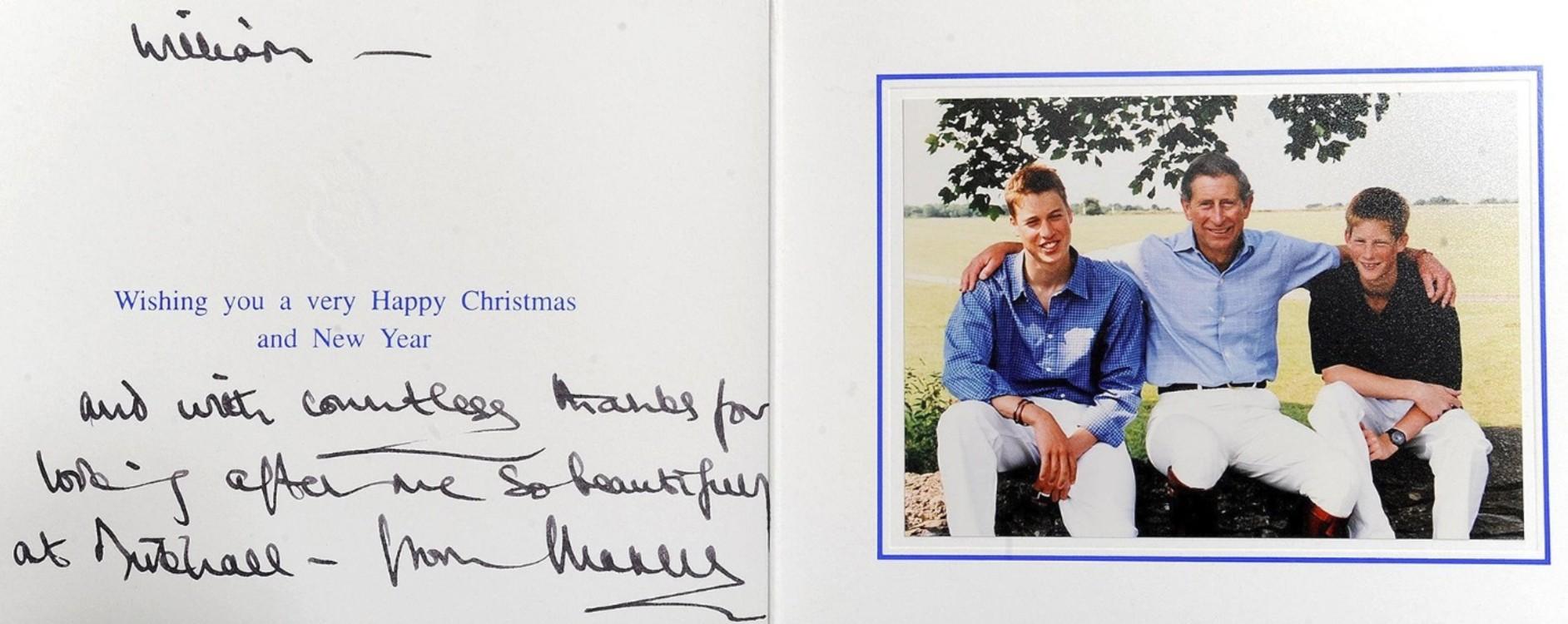 Принц Чарльз с сыновьями Уильямом и Гарри, 2008