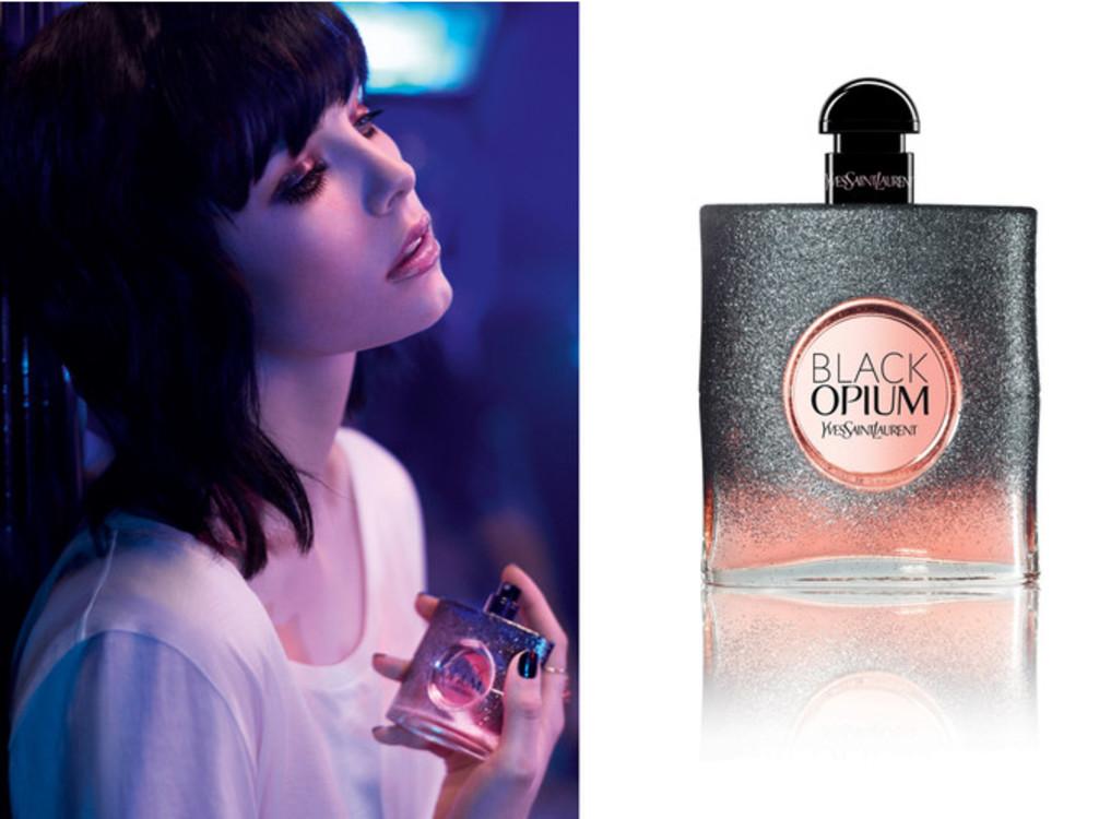 Еді Кемпбелл в рекламі Black Opium Floral Shock, 2017