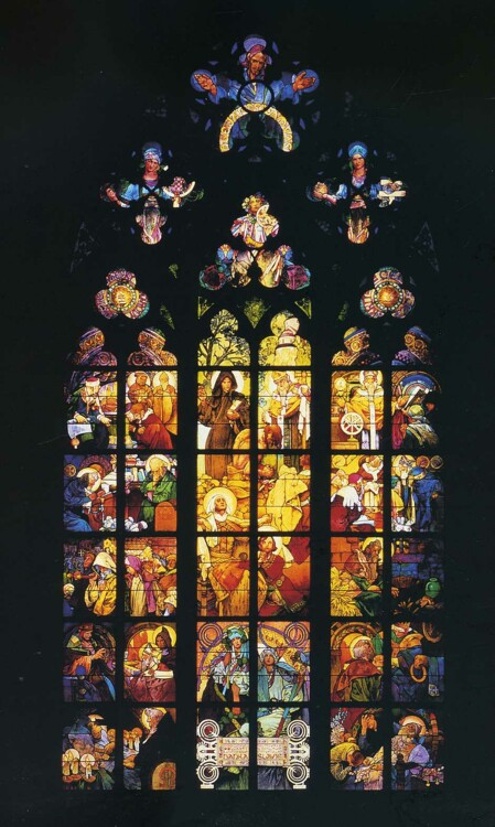 «Витраж в соборе Святого Вита», 1930-е (Собор Святого Вита, Прага)