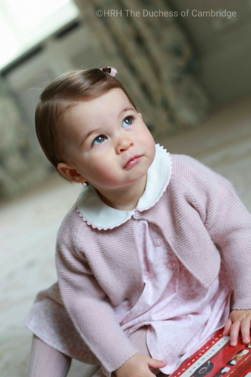 Принцесса Шарлотта в объективе своей мамы Кейт Миддлтон в апреле 2016 года. Фото сделано в резиденции герцогов в Норфолке