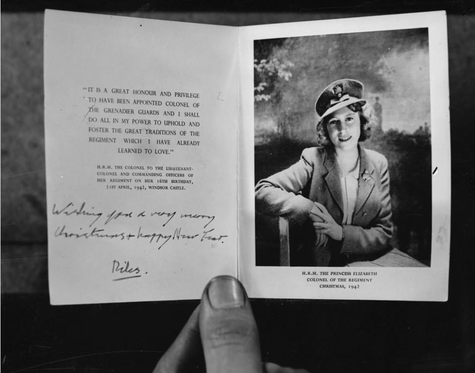 Рождественская открытка принцессы Елизаветы, 1942