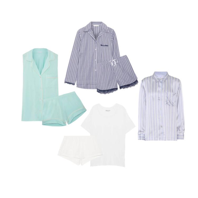 Пижама Eberjey; пижама Skin; пижама DKNY; сорочка Asceno