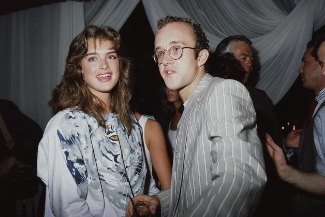 Брук Шилдс і Кіт Гарінг, 1987