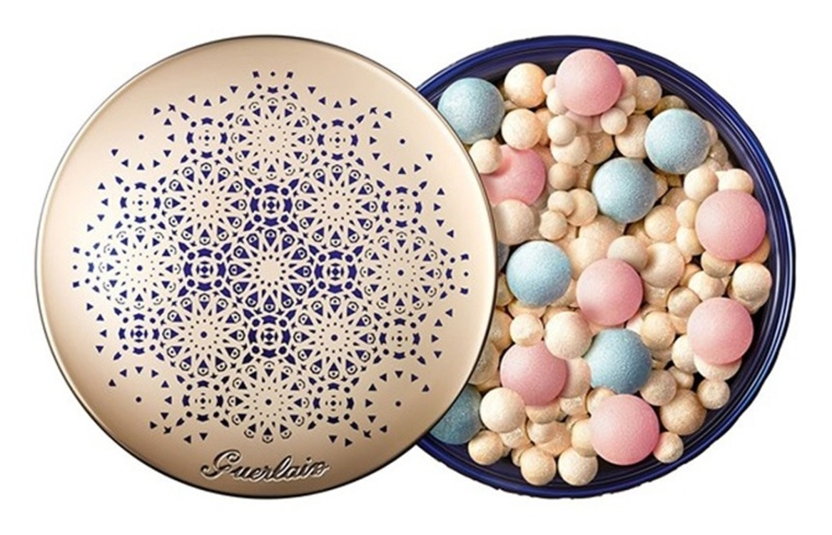 Пудра в шариках для сияния кожи Météorites Perles De Légende (розовые – для легкого румянца, синие – против темных кругов под глазами, золотистые – для сияния), Guerlain