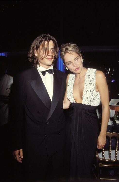 Джонни Депп и Шэрон Стоун, 1996