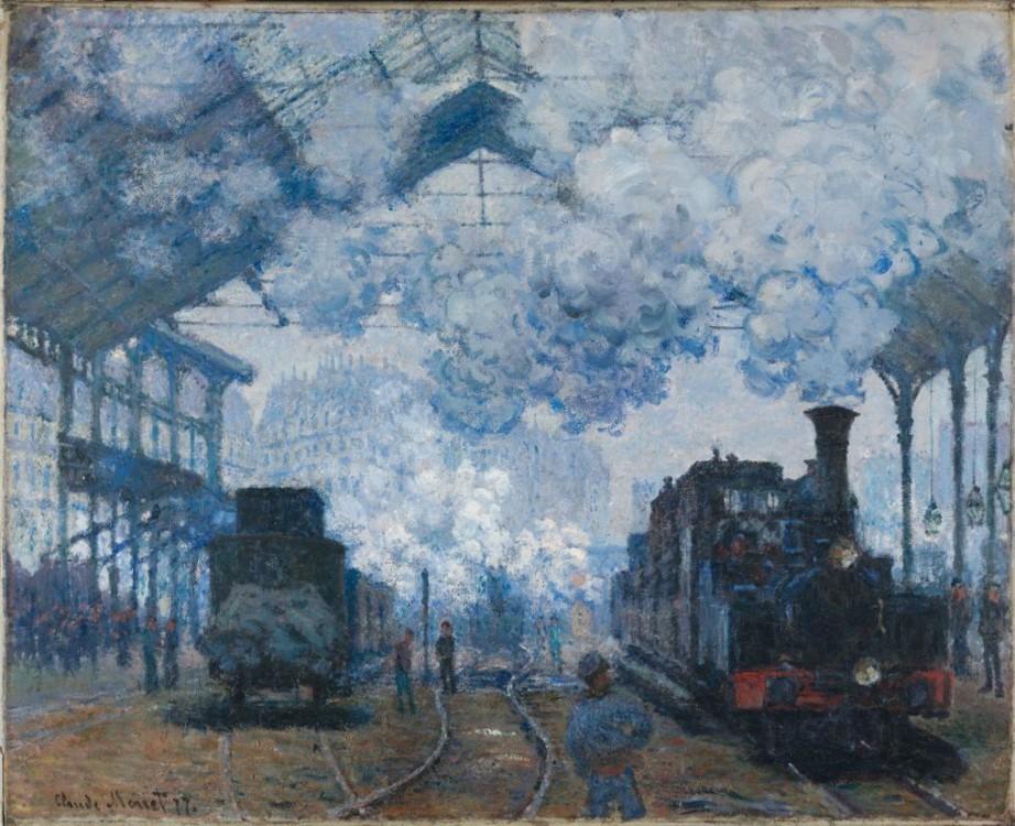 «Вокзал Сен-Лазар у Парижі, прибуття потяга», 1877