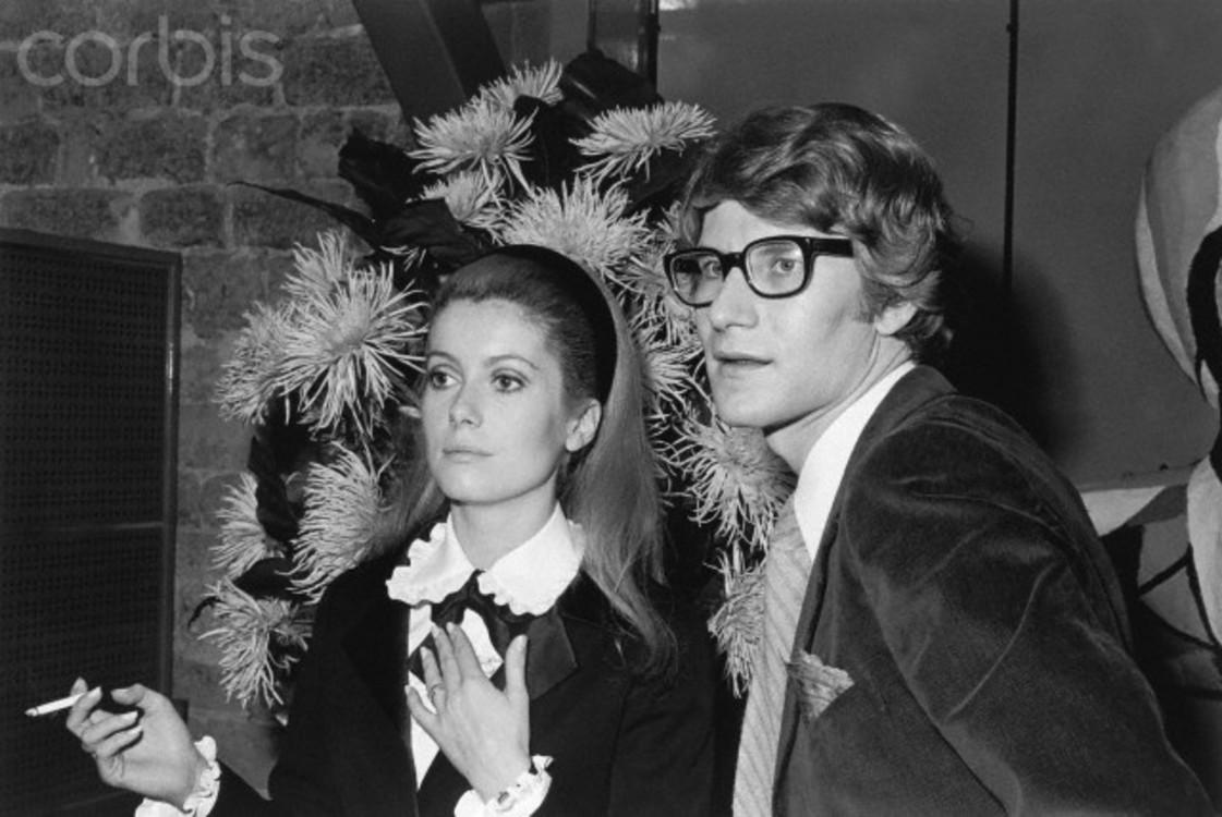 Ктрин Денев и Ив Сен-Лоран (1966)