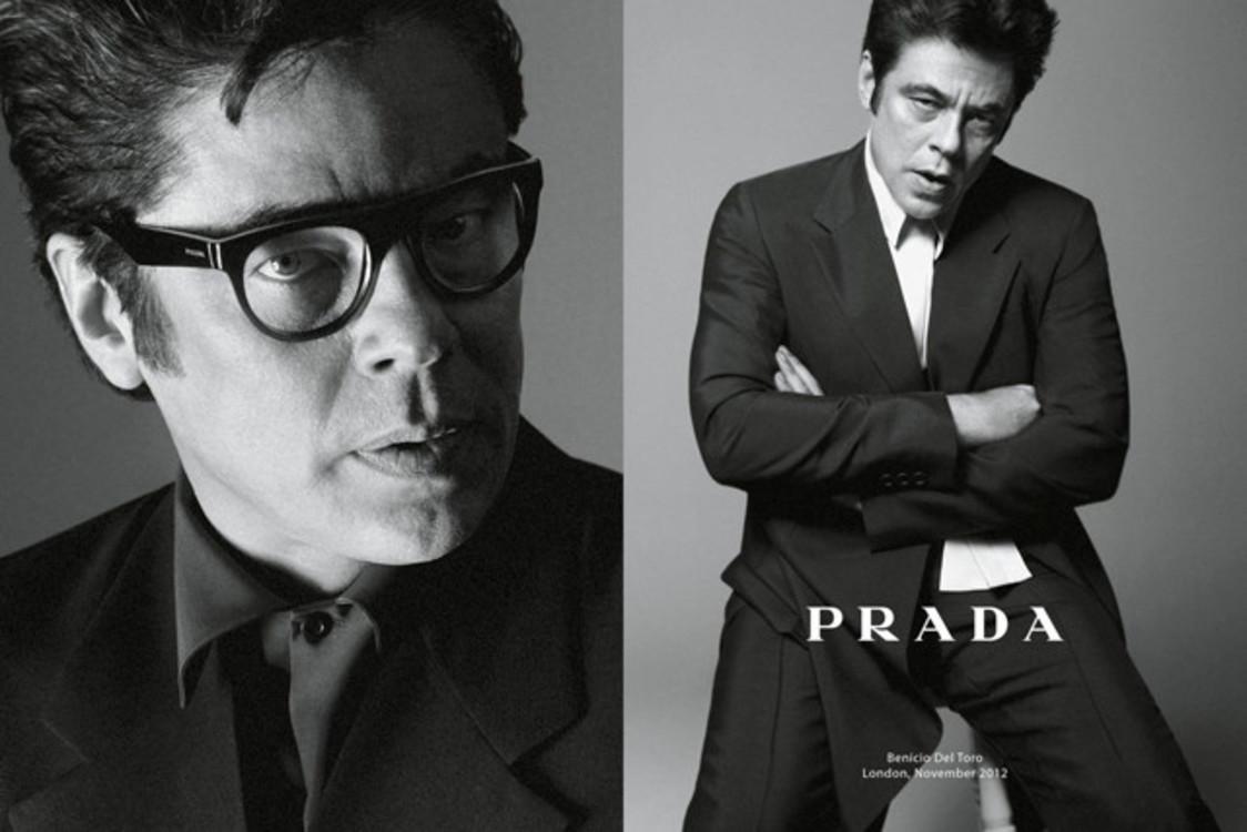 Бенисио Дель Торо в рекламной кампании Prada весна-лето 2013