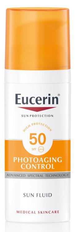 Сонцезахисний антивіковий флюїд для обличчя Photoaging Control, Eucerin, SPF 50 UVA
