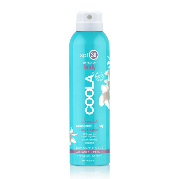 Солнцезащитный прозрачный спрей без запаха, Coola