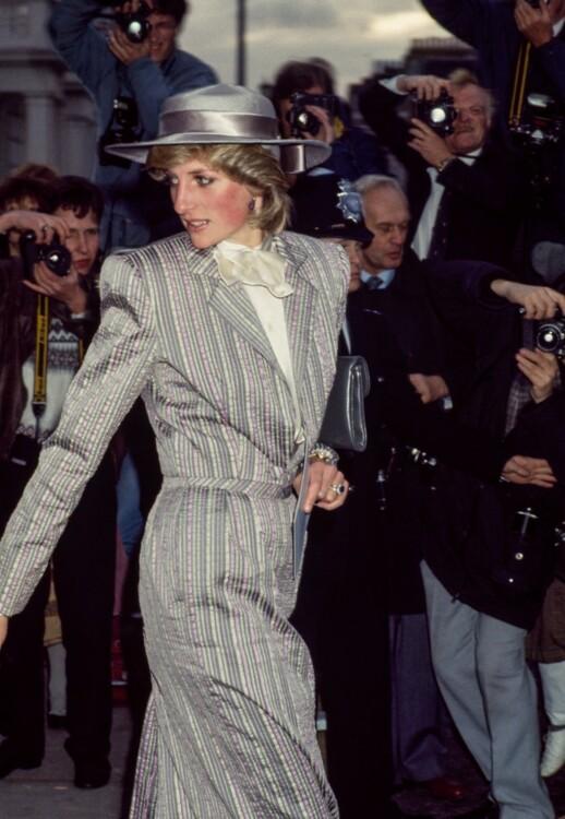 Леди Диана на свадьбе Анны Болтон в Лондоне, октябрь 1983 год