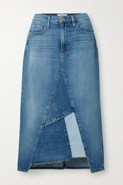 Джинсовые юбки осень-зима 2020/2021 фото