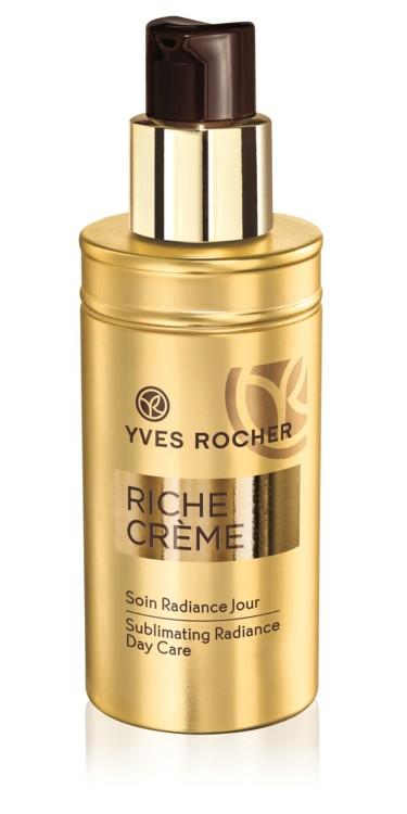 Живильний догляд-хайлайтер Soin Radiance Jour, Yves Rocher, додасть шкірі легкого сяйва, наповнить її поживними речовинами і відновить. У складі – понад 30 цінних масел з антивіковими властивостями