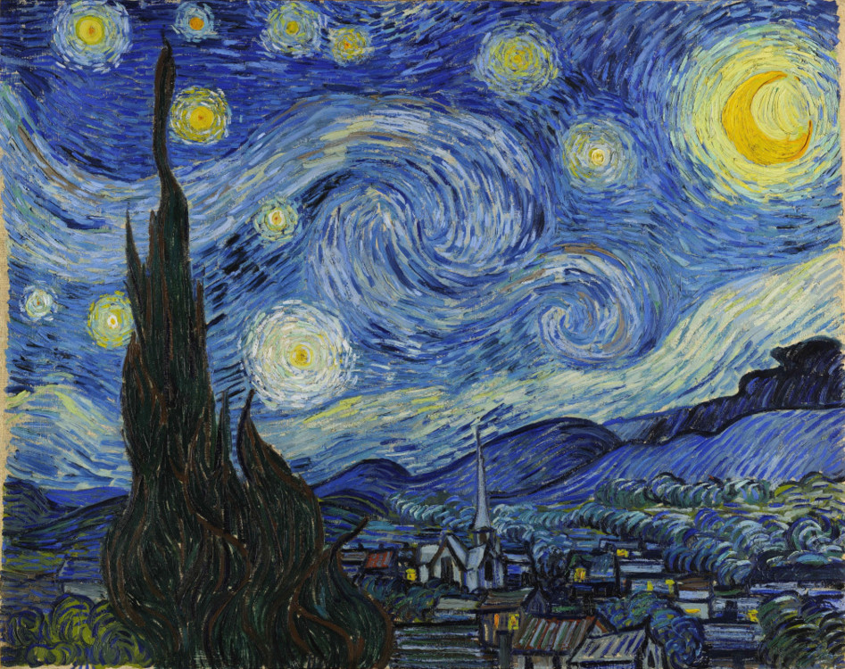 """""""Зоряна ніч"""", 1889, Музей сучасного мистецтва, Нью-Йорк"""
