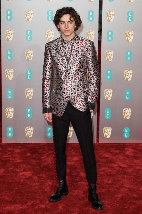Тимоти Шаламе в Haider Ackermann на BAFTA, 2019