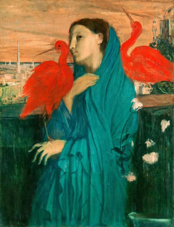 «Молодая женщина с ибисами», 1862
