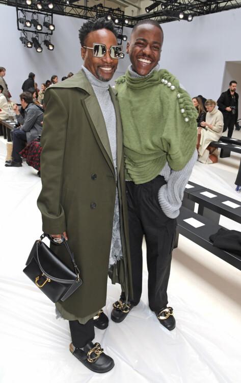 Шути Гатва и Билли Портер на показе JW Anderson в Лондоне, 2020