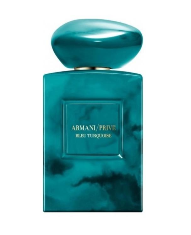 Bleu Turquoise из коллекции Armani Privé, Giorgio Armani, посвященный слиянию моря и неба, с нотами розового перца, жасмина, черной ванили и морской соли