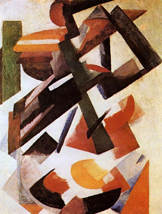 «Движение цвета по конструкции», 1921 ( Частная коллекция, Германия)