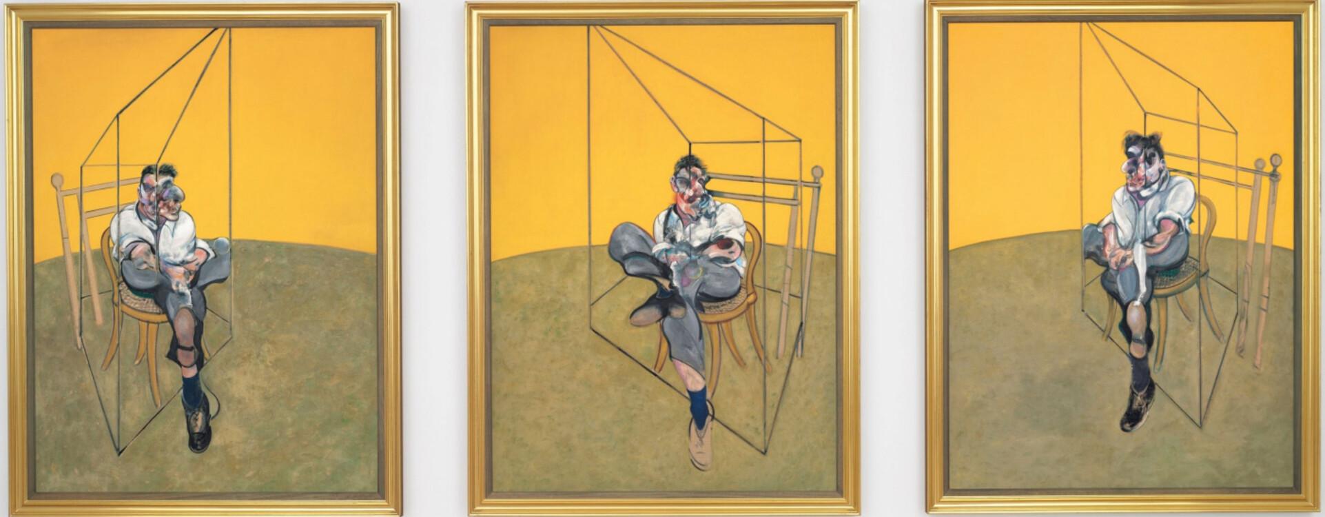 «Три наброска к портрету Люсьена Фрейда. Триптих», 1969 (Художественный музей, Портленд)