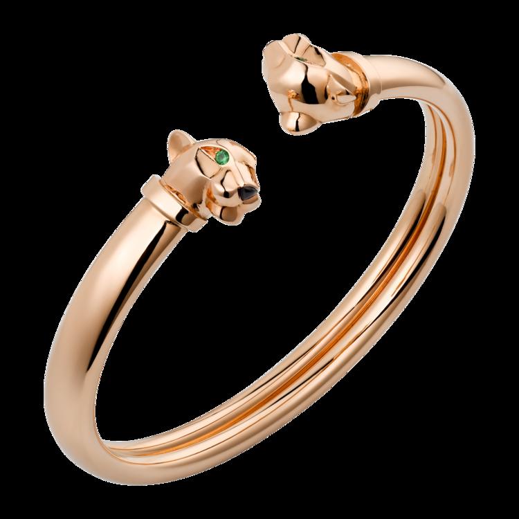 Браслет Panthère de Cartier: розовое золото, гранаты-цавориты, оникс