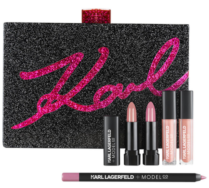 Косметичка з набором засобів для макіяжу губ, ModelCo + Karl Lagerfeld, € 165